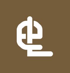 el initial logo template logo template vector image