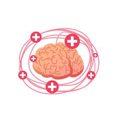 entangled brain headache therapist love and vector image