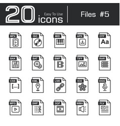 Files icon set 5 vector