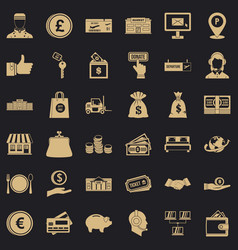 Financial incentives icons set simple style vector