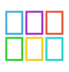 flat frame set vector image