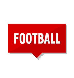 football red tag vector image