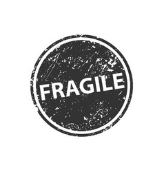 fragile stamp texture rubber cliche imprint web vector image