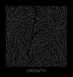 generative branch growth pattern lichen vector image