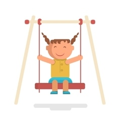 Girl go for a drive on swing vector