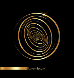 gold logo business design concentric circles sign vector image
