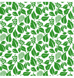 green leaves pattern seamless background vector image