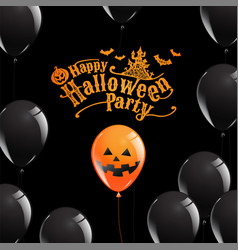 happy halloween party banner ghost scary vector image