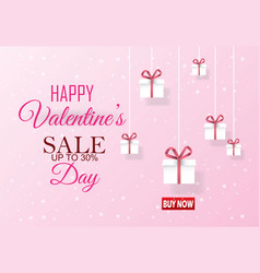 Happy valentine day and heart on background vector
