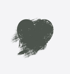 heart from brush strokes vector image