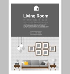 Interior design modern living room banner 1 vector