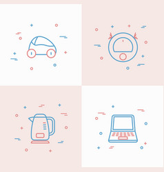 internet of things thin line icons set vector image