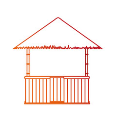 Isolated hut design vector