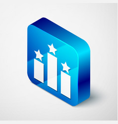 Isometric ranking star icon isolated on white vector