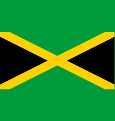 Jamaicas national flag with official colors vector