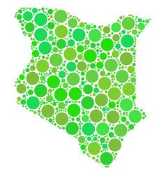 kenya map composition of dots vector image