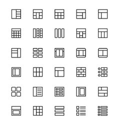 Layout Line Icons 1 vector image
