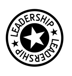 Leadership typographic stamp vector