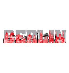 Lettering berlin cityscape vector
