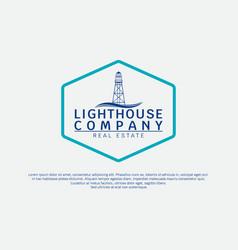 lighthouse vintage simple modern logo template vector image