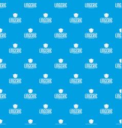 Lingerie design pattern seamless blue vector