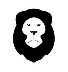 Lion head the black color icon vector