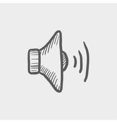 Loudspaeaker sketch icon vector