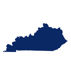 Map kentucky in blue colour vector