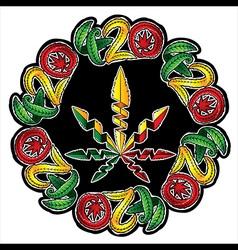 marijuana jamaican style design stamp vector image