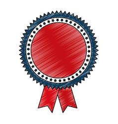 Medal with stars award vector