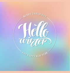 merry christmas and happy new year modern hand vector image