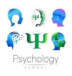 Modern head sign Set of Psychology Profile Human vector