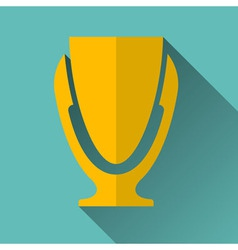 Modern Trophy Cup Icon vector image