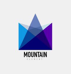 mountain logo geometric design vector image