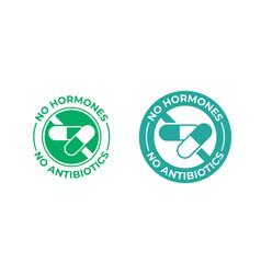 No antibiotics and hormones free farm grown food vector