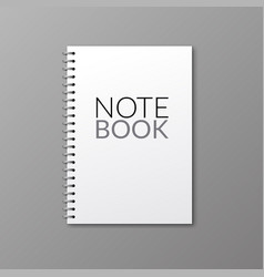 realistic notebook design diary blank vector image