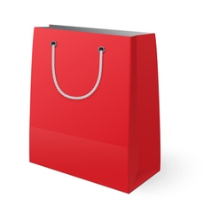 Red shopping bag isolated on white background vector image