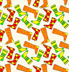 Seamless Pattern with Socks Background vector image vector image