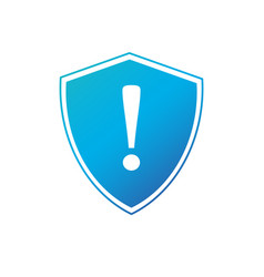 shield with exclamation mark icon protection vector image