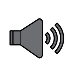 speaker sound on icon image vector image