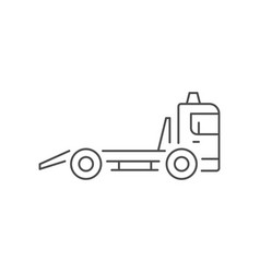 tow truck line outline icon vector image