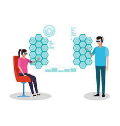 virtual reality technology vector image