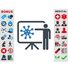 Virus Report Icon vector