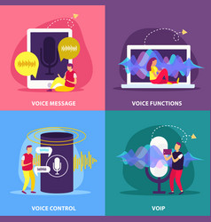 voice functions 2x2 design concept vector image