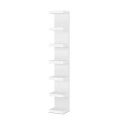 Wall shelf unit isolated on white background vector