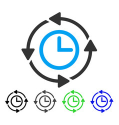 Wayback clock flat icon vector