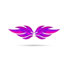 Wings emblem vector image