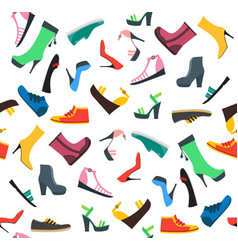 woman shoes background pattern vector image vector image