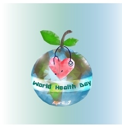 World Health Day 7 April Globe Infographics vector