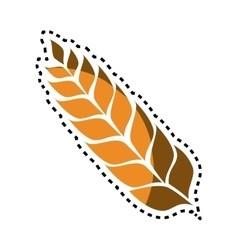 wreath leaf beer icon vector image